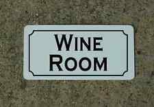 WINE ROOM Sign Metel vintage retro look for Home Bar Restaurant Man Vineyard