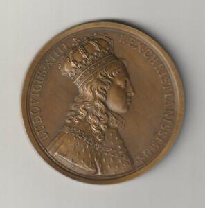 Médaille ,SACRE du ROI LOUIS XIV à  REIMS en 1654 ,par Michel MOLART