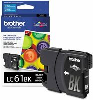 Brother LC61BK Black Ink Cartridge Exp: 05/2021 - BRAND NEW FACTORY SEALED 1PK