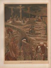 "Tissot Jesus CHROMO-LITHO PRINT - ""eloi, Eloi, Lama sabachthani!"" (1897)"
