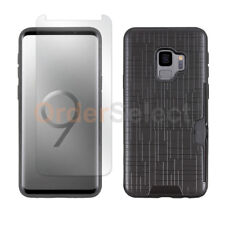 Case Hybrid Shockproof Plastic Cover+LCD Screen Protector for Samsung