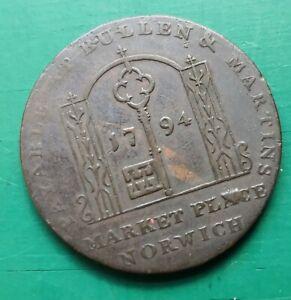 1794 Norfolk Norwich Conder Halfpenny D&H 19 #249
