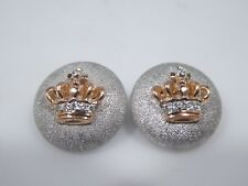 18K GOLD AND DIAMOND CROWN CUFFLINKS 7.6 DWT
