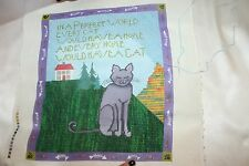 In A Perfect World Every Home Would Have A Cat Hand Painted Needlepoint Canvas