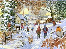 La House of Puzzles - 500 GRANDE Pezzo Puzzle-Snowy Walk Big PEZZI