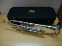 BRAND NEW SILVER Bb TRUMPET WITH FREE HARD CASE+MOUTHPIECE