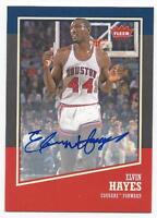 2013-14 Fleer Retro autographed basketball card Elvin Hayes, Houston Cougars