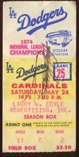Ticket MLB L.A. Dodgers 1975 5/24 St. Louis Cardinals Keith Hernandez HR #1