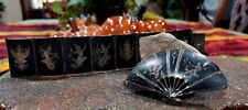 Vintage Sterling Silver SIAM Panel Bracelet & Fan Pin/Brooch