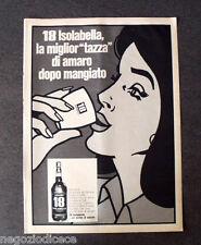 [GCG] P402 - Advertising Pubblicità -1968- AMARO 18 ISOLABELLA