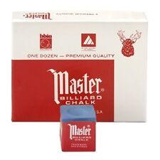 MASTER CHALK Pool cue tip Dozen Box cube BLUE 12 Tweeten Fibre Co.
