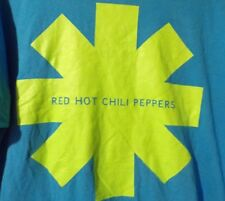 Red Hot Chili Peppers Lime Green Logo 2011 Blue T Shirt Rare