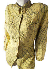 EMDEE Womens Vtg 80s Casual Fashion Print Boyfriend Classic Mod Shirt sz 14 F44