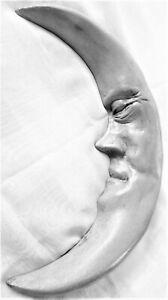 """Handmade 11"""" Folk Art Moon Wall Sculpture, Signed Original Collectible Artwork"""