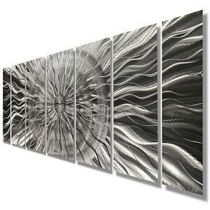 Modern Abstract Metal Wall Art Silver Wall Sculpture Home,Office Decor Jon Allen