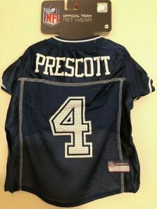 DAK PRESCOTT #4 Dallas Cowboys Licensed 2020 NFLPA Dog Jersey Navy, Sizes XS-XL