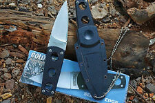New Cold Steel Knife Secret Edge Fixed Blade Neck Knife Kydex With Sheath