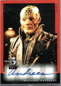 Skybox Babylon 5 Season 4 autograph card - A5 - Andreas Katsulis