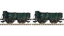 Fleischmann 590112 - 2-tlg. Bauzugwagenset der Bauart Omp, DR Gleichstrom H0 Neu