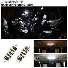 2x 561 562 44mm Rigid Loop White Led Interior Map Dome Door Trunk Lights Bulbs