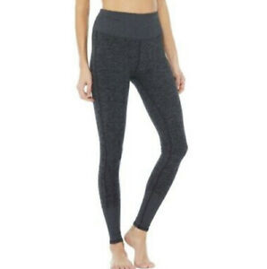 NWT ALO High Waist Ribbed Lounge Leggings - Dark Heather Grey - Large BEST DEAL