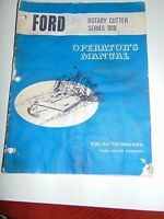 Ford Operator's Manual Rotary Cutter 908