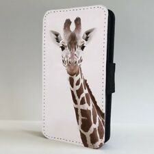 Cara De Jirafa Animal Africano Teléfono Abatible de Vida Silvestre Estuche Cubierta para iPhone Samsung