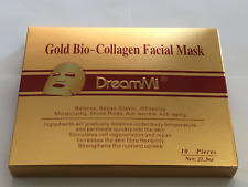 DreamMi®️ Boxed 10PCS/1 Box Gold Bio Collagen Facial Mask, High Level Quality