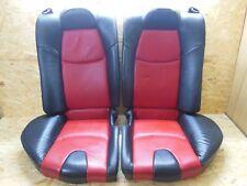 2003 2008 JDM MAZDA RX8 SE3P 4PIECE REAR RED BLACK SEAT SET RARE ITEM OEM