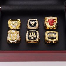 Chicago Bulls Championship Rings Size 11 In wood Box Collections Gift 6pcs/set