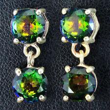 Topaz Stud Round Leverback Fine Gemstone Earrings
