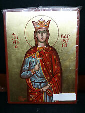 Saint - St. Barbara Greek Byzantine Orthodox Icon Hand painted 20x26cm