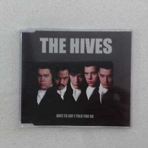 THE HIVES HATE TO SAY I TOLD YOU SO 2002 BURNING HEART RECORDS 3 TRACK CD SINGLE