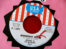 MICHAEL & THE MESENGERS~ MIDNIGHT HOUR~ RARE PROMO~ UP TIL NEWS ~ POP 45