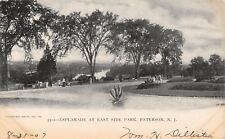 Paterson New Jersey~East Side Park Esplanade~View to River~1907 B&W Postcard