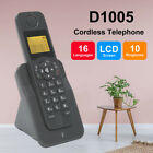 Business LCD Cordless Telephone Desktop Phone with Caller ID Home Office Black