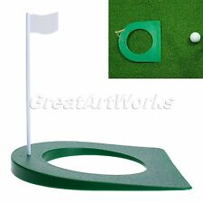 Golf Practice Plate Putting Green Regulation Cup Hole Flag Indoor Training AIDS