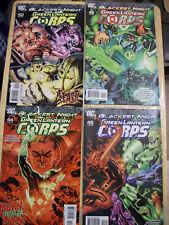 Green Lantern Corps # 40, 42, 44, 45 Blackest Night (2009) Comics, VF Condition