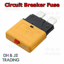 20a Circuit Breaker Blade Fuse 12V 24V Resettable Marine Rally Automotive Fuses