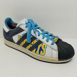 Adidas 2006 Superstar 1 NBA Denver Nuggets Basketball Shoes Rare  Mens Size 11