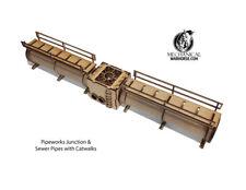 Pipe Works Junction & Sewer Pipes w/ Catwalks 40k  28mm terrain Necromunda