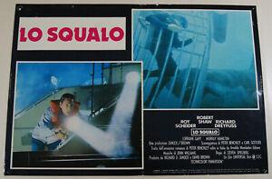 fotobusta film JAWS - LO SQUALO Steven Spielberg Roy Scheider Richard Dreyfuss c