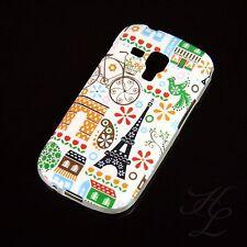 Samsung Galaxy S Duos S7562 Silikon Case Schutz Hülle Bumper Paris Blumen Etui