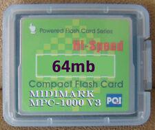 Akai mpc2000 mpc 1000 2000 xl 500 2500 compact flash v3 hard house hip hop RnB