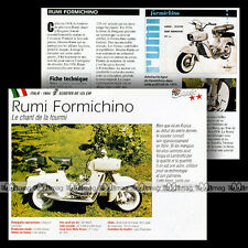 RUMI FORMICHINO 125 1954 - Fiche Scooter / Moto Motorcycle Card MRC