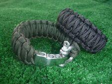Adjustable Paracord Bracelet w adjustable shackle, King Cobra PICK SHACKLE/COLOR