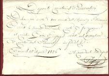 Deposito Cacciatori Reali Piemontesi - Paga di Cento Franchi al Cacciatore 1826