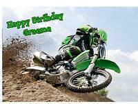 Personalised A5 Motorcross Scramble Bike  Birthday Card Any Age Relation Son Dad
