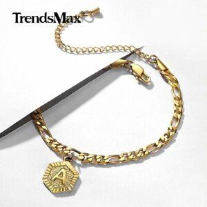 "For Women Customized Initial Letter Anklet Bracelet Alphabet Name 7.5-10"" Adjust"