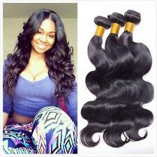 3Bundle150g 100% Unprocessed Brazilian Body Wave Human Hair Extension Weave Weft